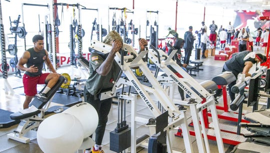 The Arizona Cardinals began their offseason strength and conditioning program at the practice facility in Tempe, Tuesday, April 9, 2019.