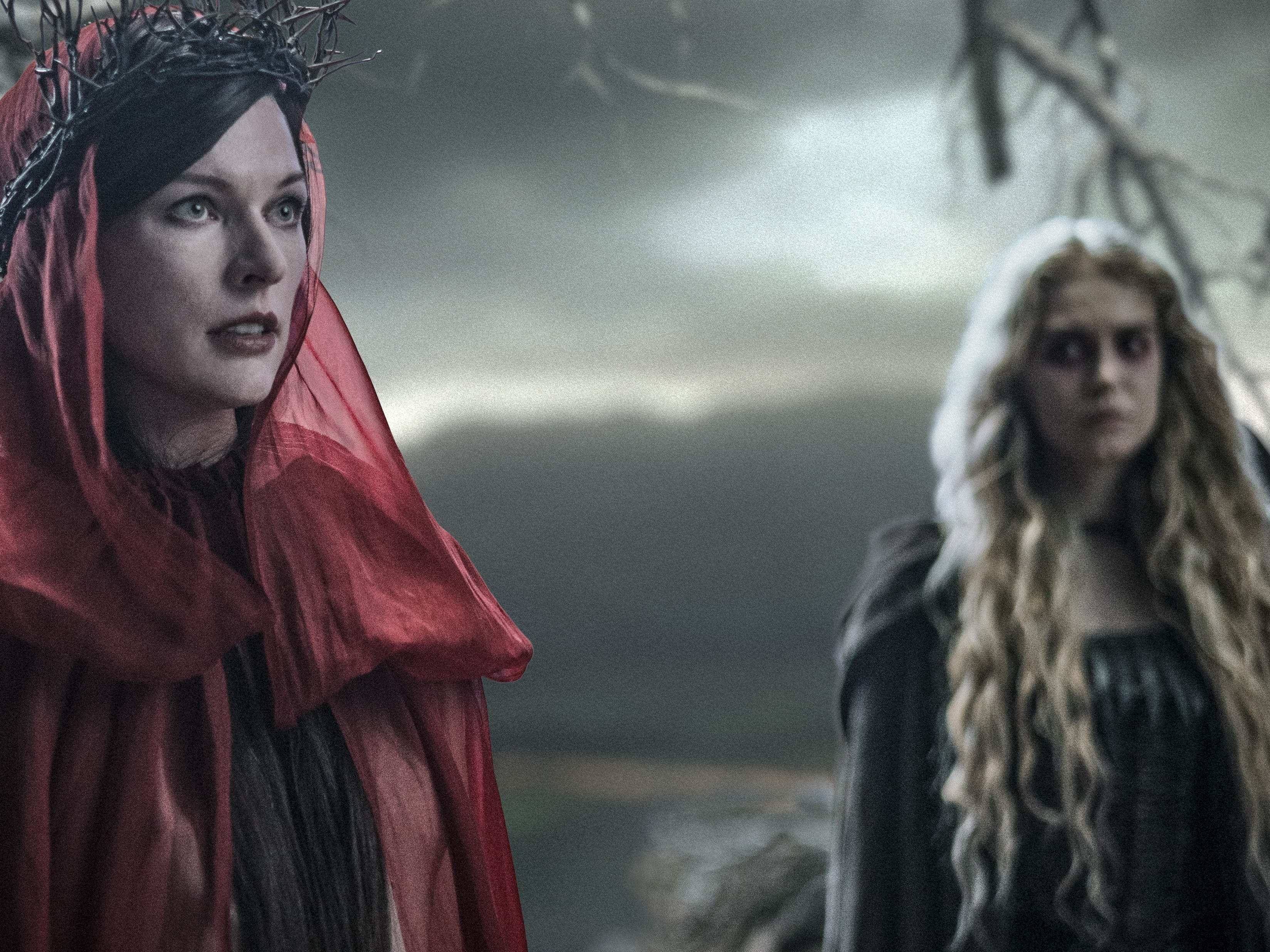"""Milla Jovovich as Nimue the Blood Queen and Penelope Mitchell as Ganeida in """"Hellboy."""""""