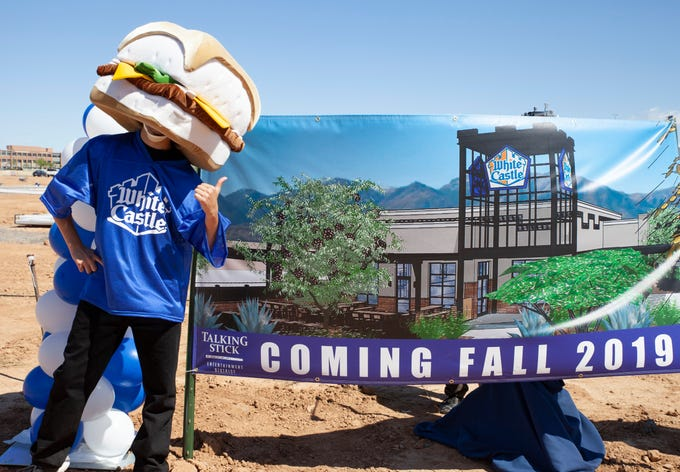 White Castle broke ground on its first Arizona restaurant at a ceremony on the Salt River Pima-Maricopa Indian Community on April 10, 2019.