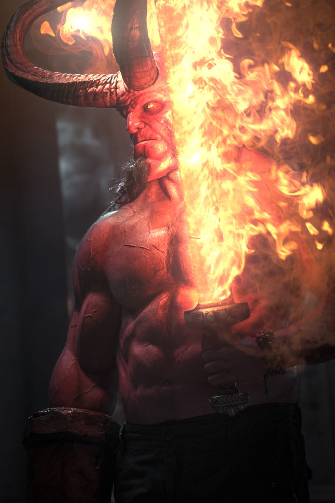 David Harbour stars as 'Hellboy.'