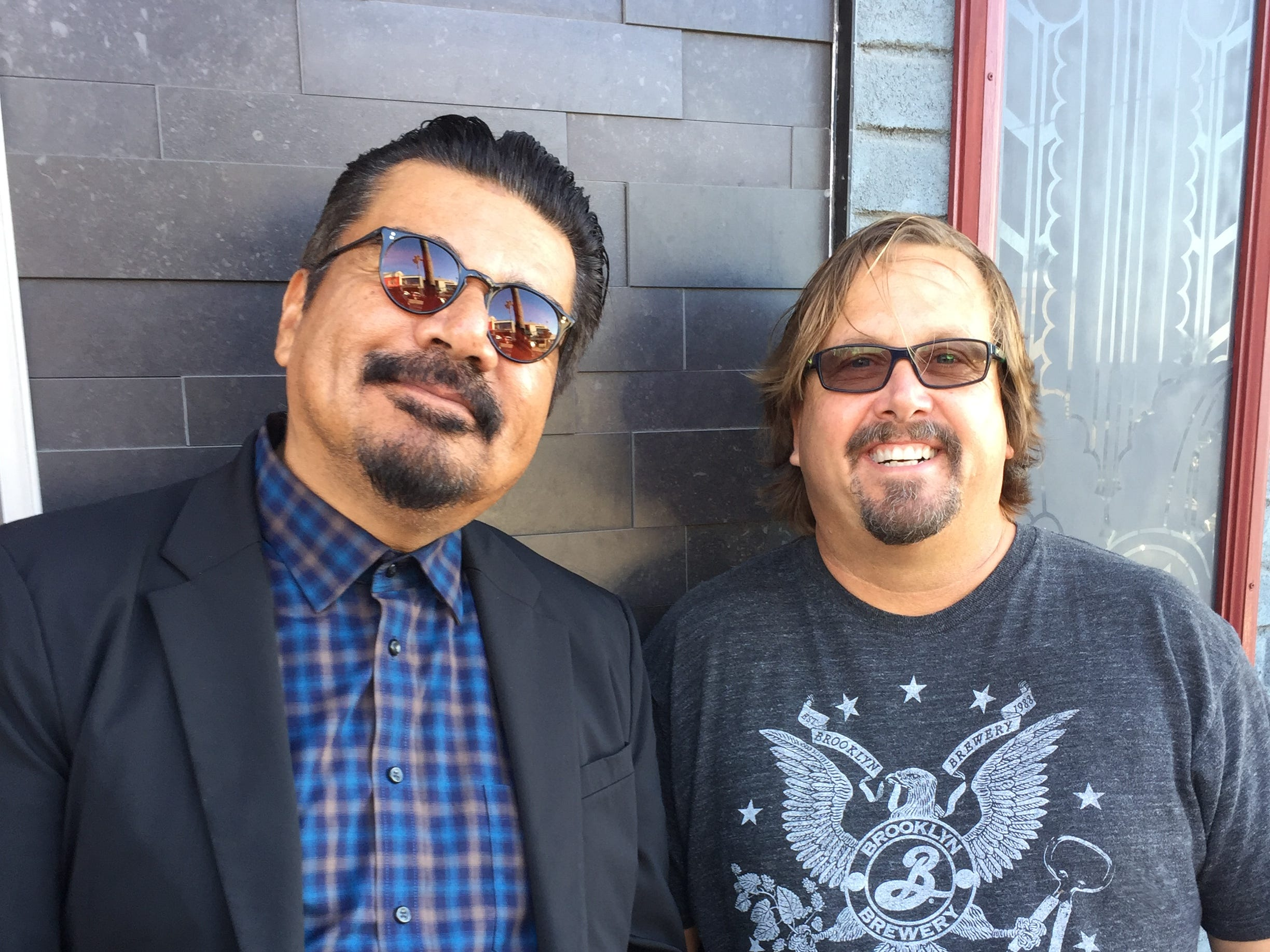 Comedian and actor George Lopez (left) and restaurant industry entrepreneur and hotelier Michael Zislis of the Zislis Group have teamed to create George Lopez's Chingon Kitchen, which will open at Vee Quiva Hotel & Casino in May.