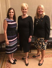 Cindy McCain (center) met with the bipartisan Congressional Caucus for Women's Issues on April 10, 2019.