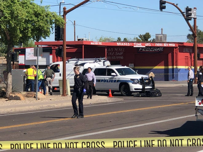 A man was shot and killed early Wednesday morning near Chandler Boulevard and Hamilton Street, according to Chandler police. The victim was not identified by police.