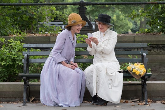 """Elizabeth McGovern (left) and Blythe Danner star """"The Chaperone."""""""