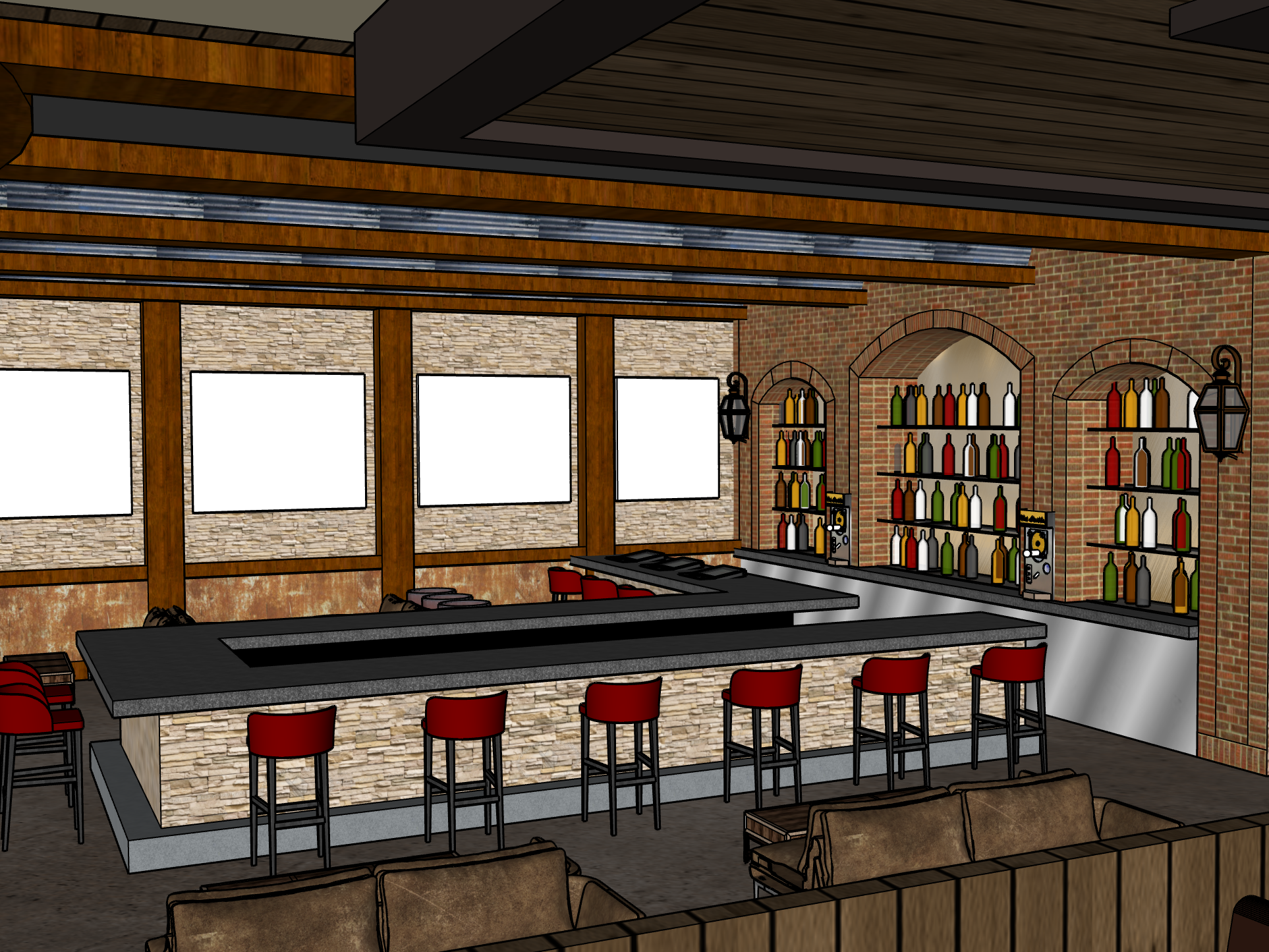 A rendering of the space that will be the new George Lopez's Chingon Kitchen, which is scheduled to open May 3 at Vee Quiva Hotel & Casino.