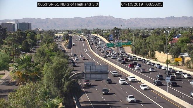ADOT footage of freeway backup