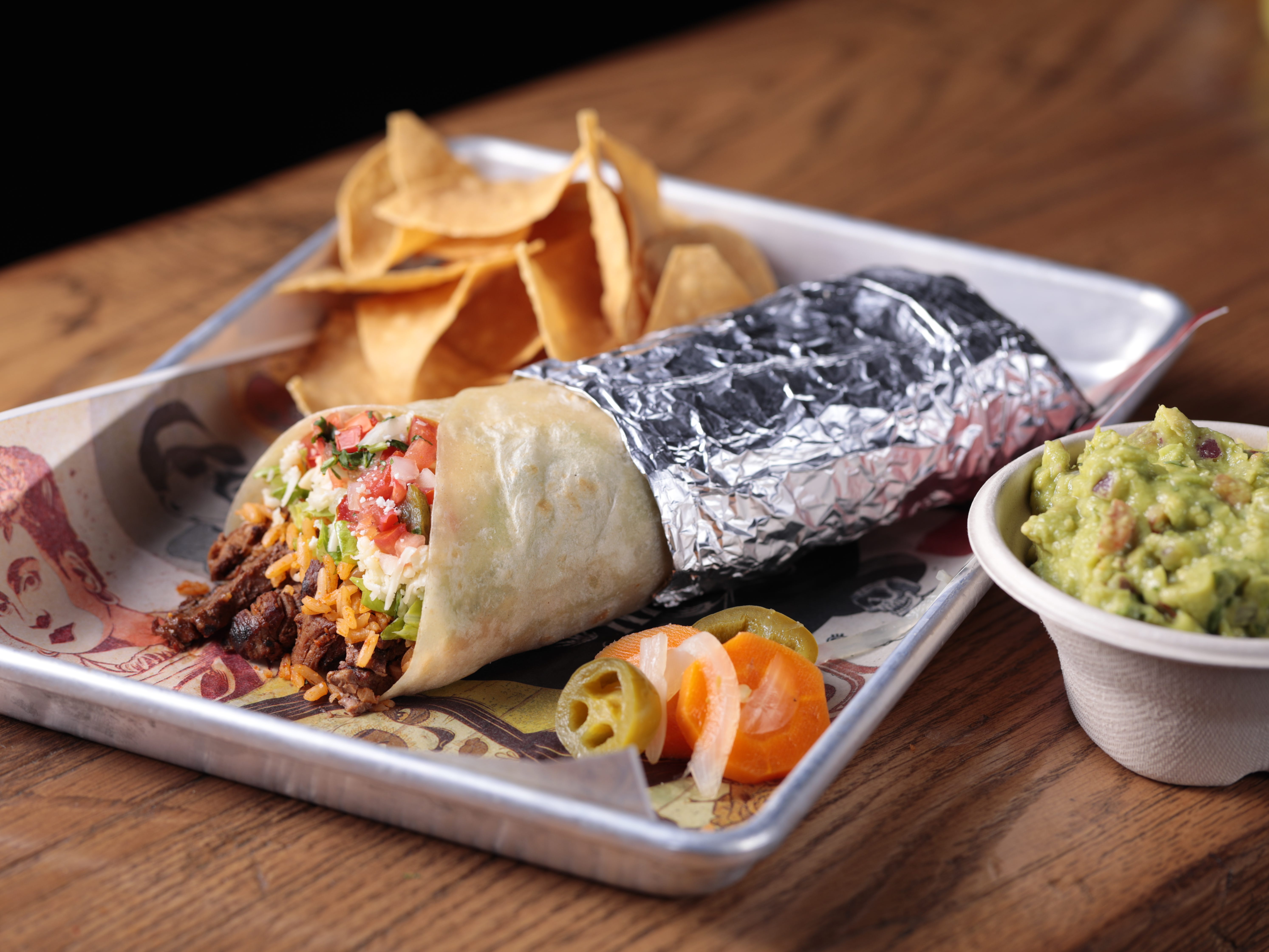 George Lopez's Chingon Kitchen gives diners the option to create a variety of dishes, like burritos, to their preferences.