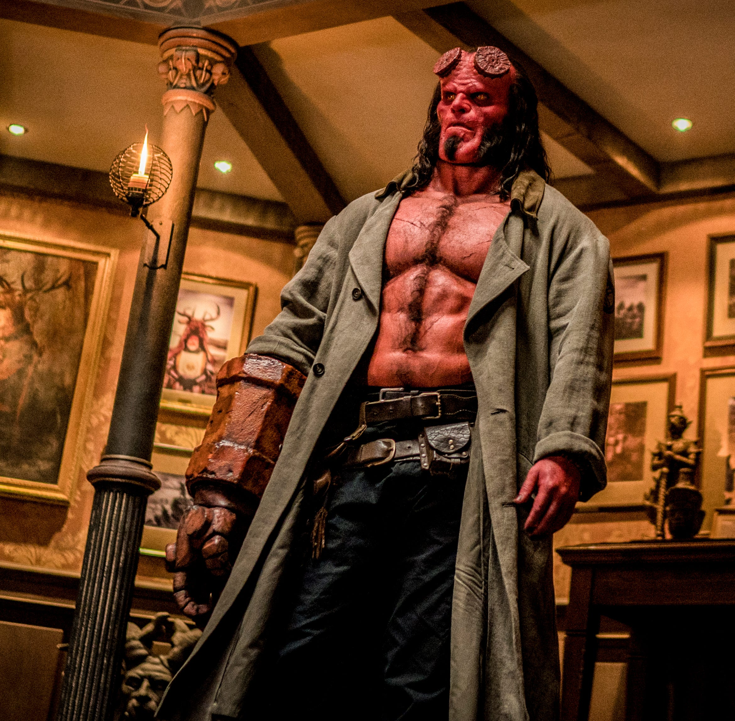 """David Harbour plays the title character in """"Hellboy."""""""