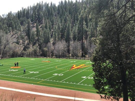 A look at the new artificial field at ASU football's Camp Tontozona.