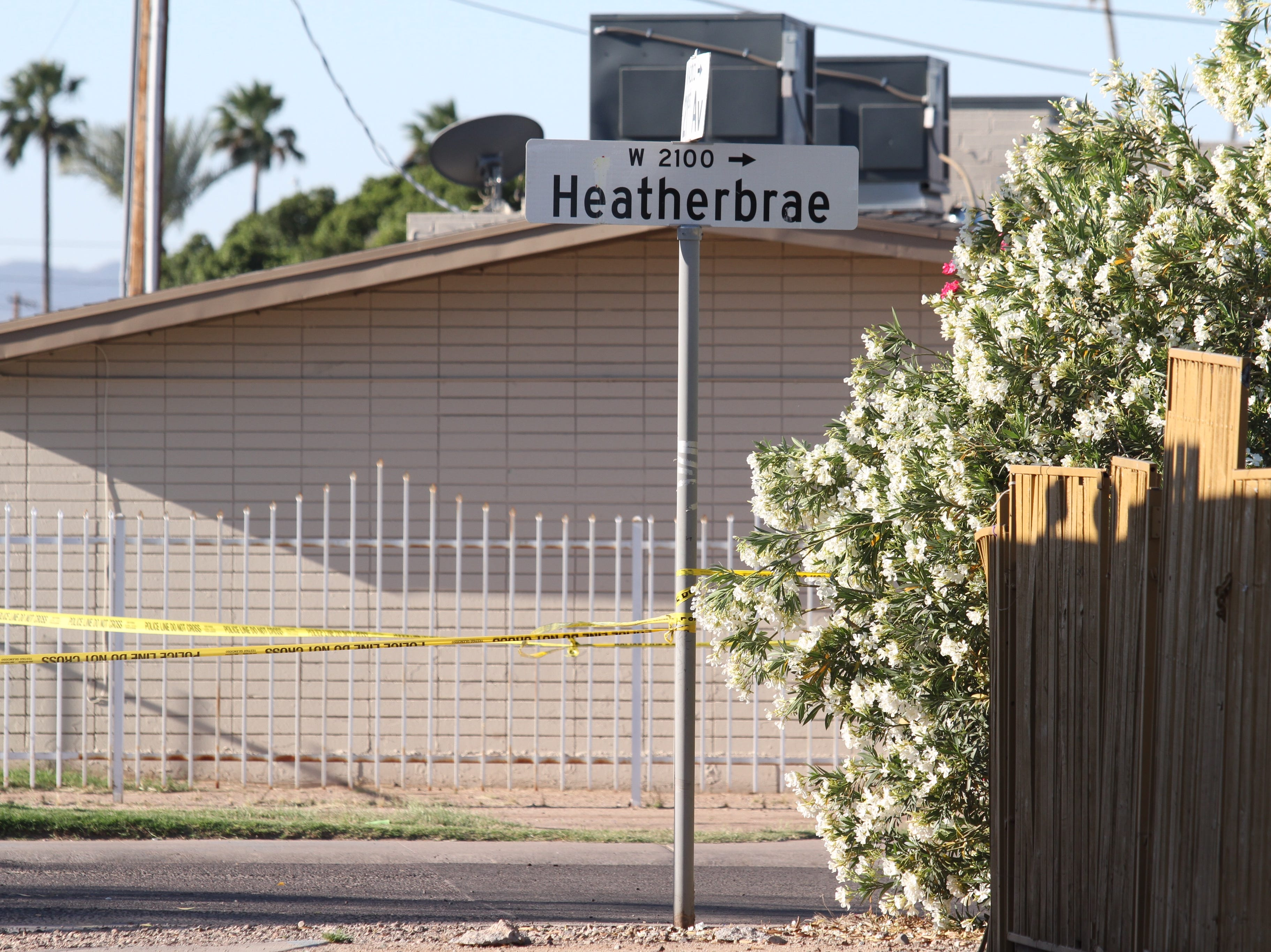 Phoenix police investigate a reported shooting that occurred April 9, 2019 near 21st and Glenrosa avenues.