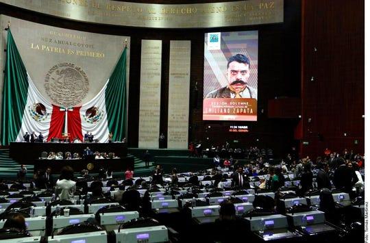 En San Lázaro se celebró sesión solemne por los 100 años del asesinato de Emiliano Zapata.