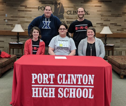 Port Clinton senior Amelia Smith continues her tennis career at Heidelberg College. She's joined by Redskins coaches Annie Head, Joe Miller, Ryan Evarts and Lindsay Dunn.