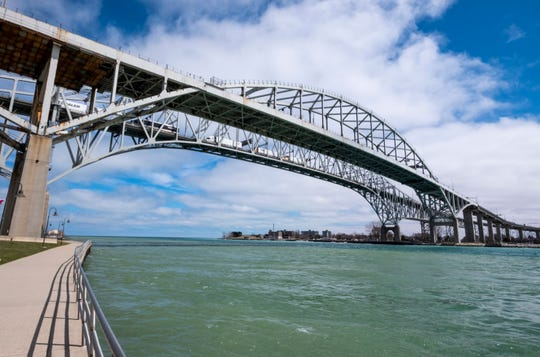 Canadian officials seized meth and U.S cash from a truck crossing the Blue Water Bridge May 2.