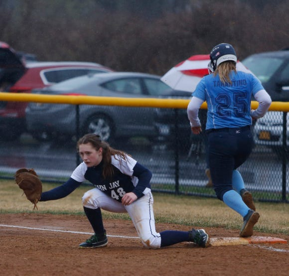 Action from Tuesday's game between John Jay and Suffern on April 9, 2019.