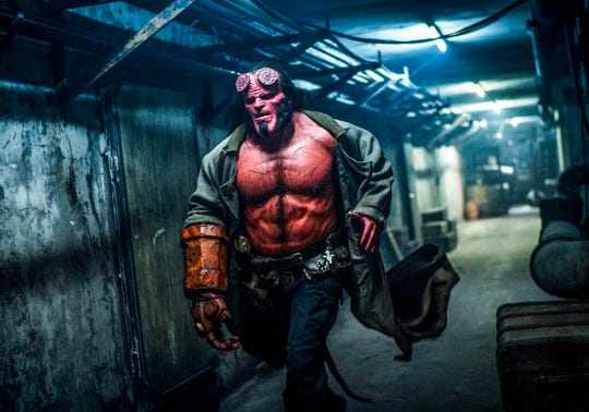 "David Harbour stars in ""Hellboy."" The movie is playing at regal West Manchester Stadium 13, Frank Theatres Queensgate Stadium 13 and R/C Hanover Movies."
