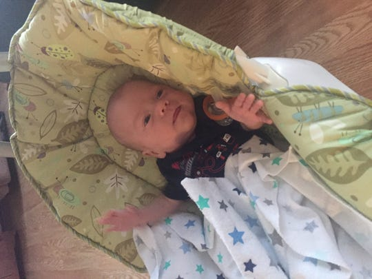 Liam McDannell, the first baby of 2019 born in York County, on Jan. 1, was sent home with his family on Tuesday, April 9, days before his original intended due date of April 13.