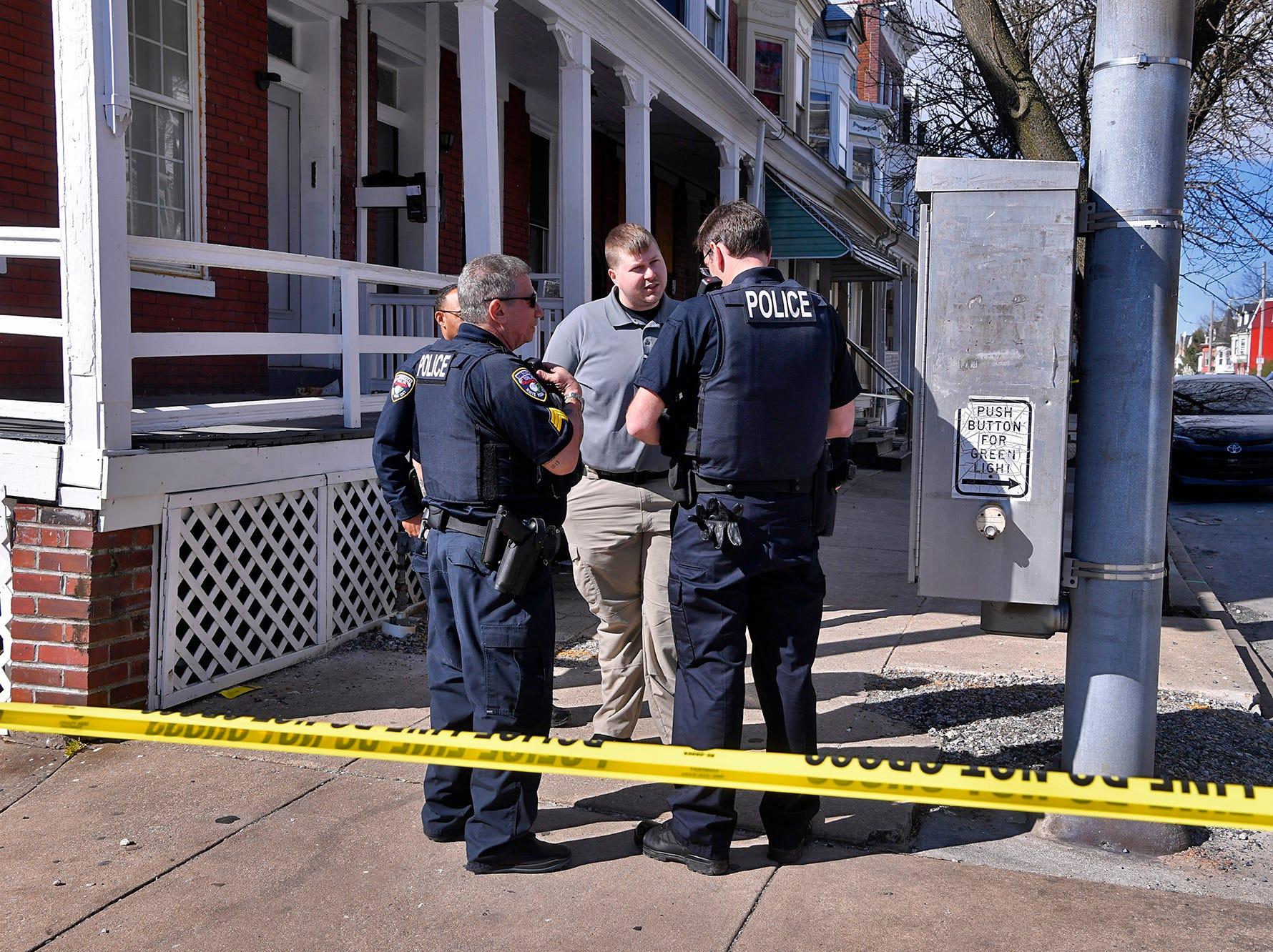 York City Police and the York County Coroner's Office investigate a shooting in the 700 block of W. Princess Street, Wednesday, April 10, 2019.John A. Pavoncello photo