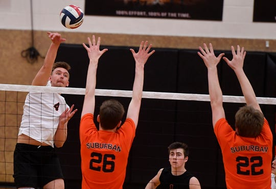 Northeastern at York Suburban volleyball, Tuesday, April 8, 2019.