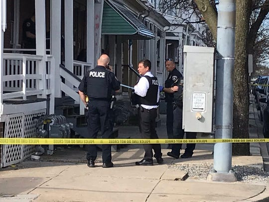 Police on scene of incident in the 700 block of West Princess Street on April 4, 2010.