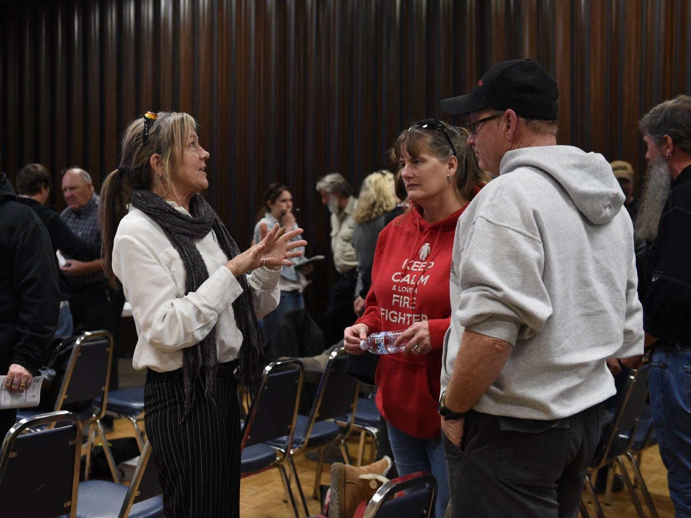 Images from the Burning Man public meeting at the Pershing County Community Center in Lovelock. It was the second round of public comments and questions on proposed changes to the Burning Man event on Tuesday evening April 9, 2019. The Bureau of Land Management hosted the event.