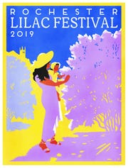 The 2019 Rochester Lilac Festival poster, by local artist Alison Coté.