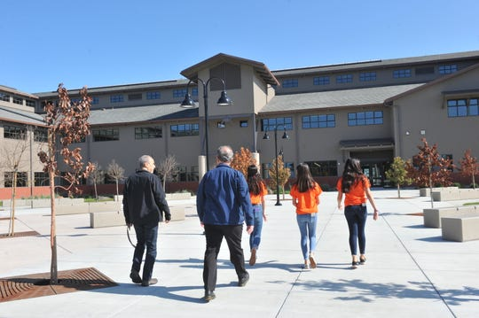 The first class of Rancho San Juan High School's Associated Student Body leadership students gave tours of their campus.