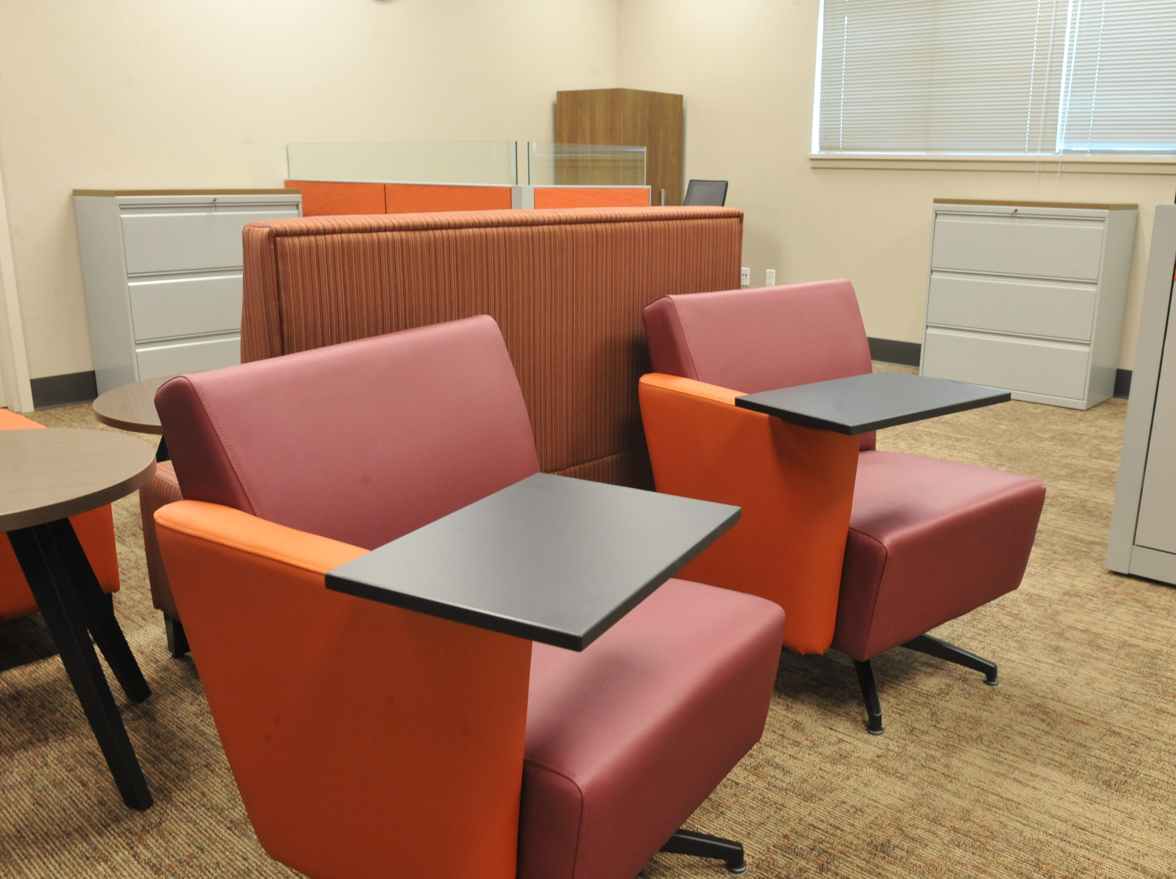 Seating inside Rancho San Juan High School's administration office.