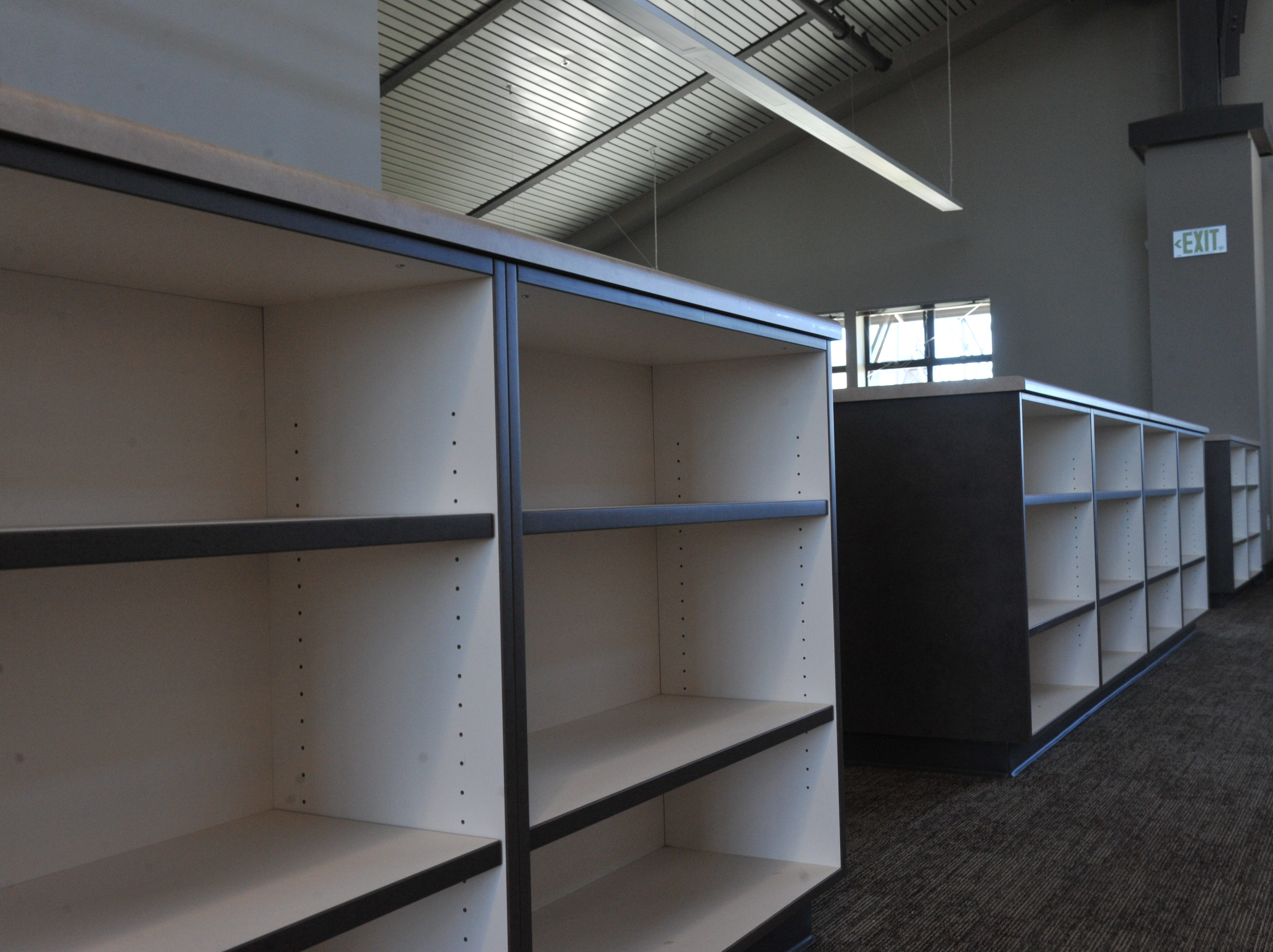 Shelves will soon be filled with books at Rancho San Juan High School's library.