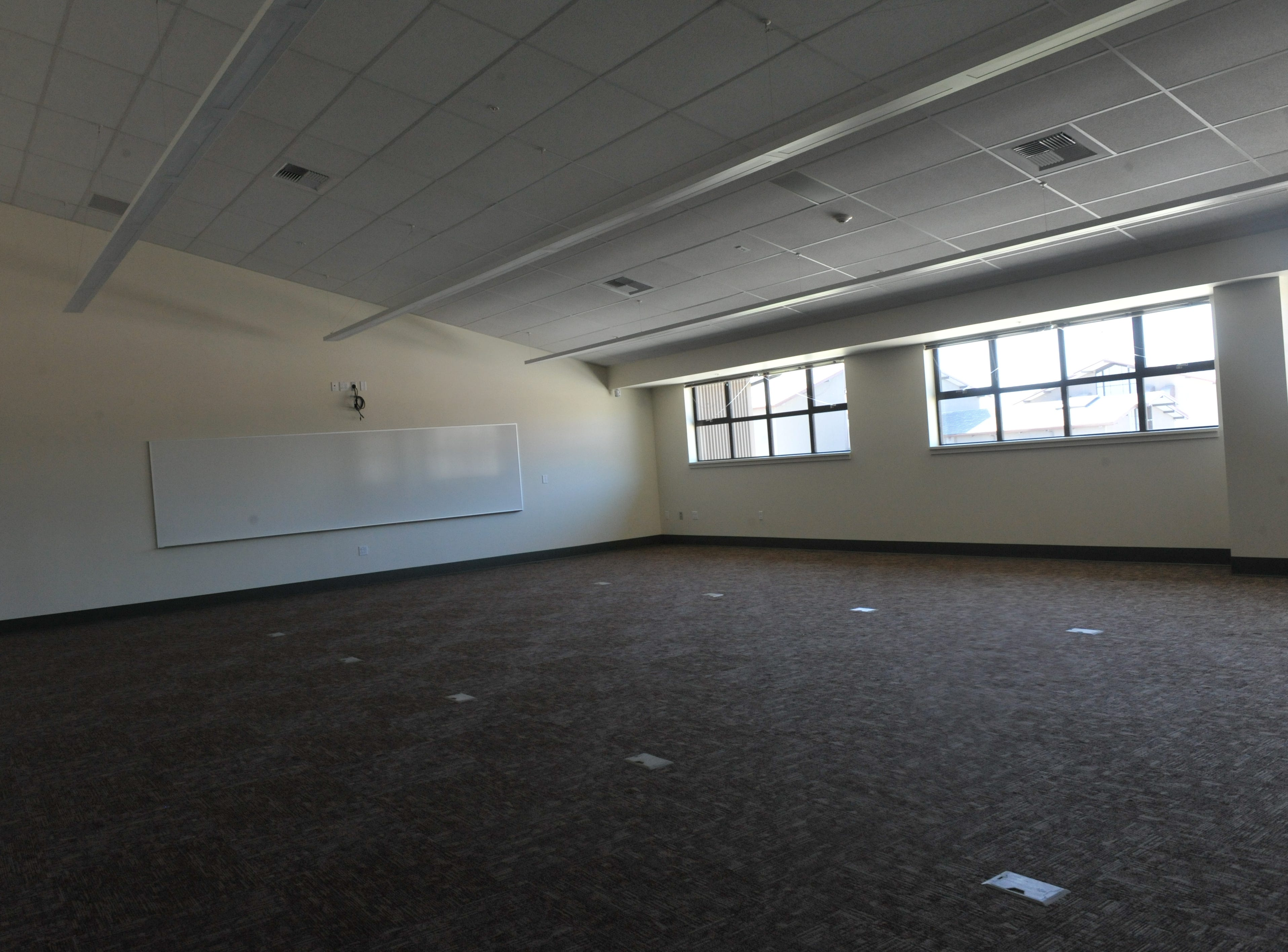 View of a classroom at Rancho San Juan High School.