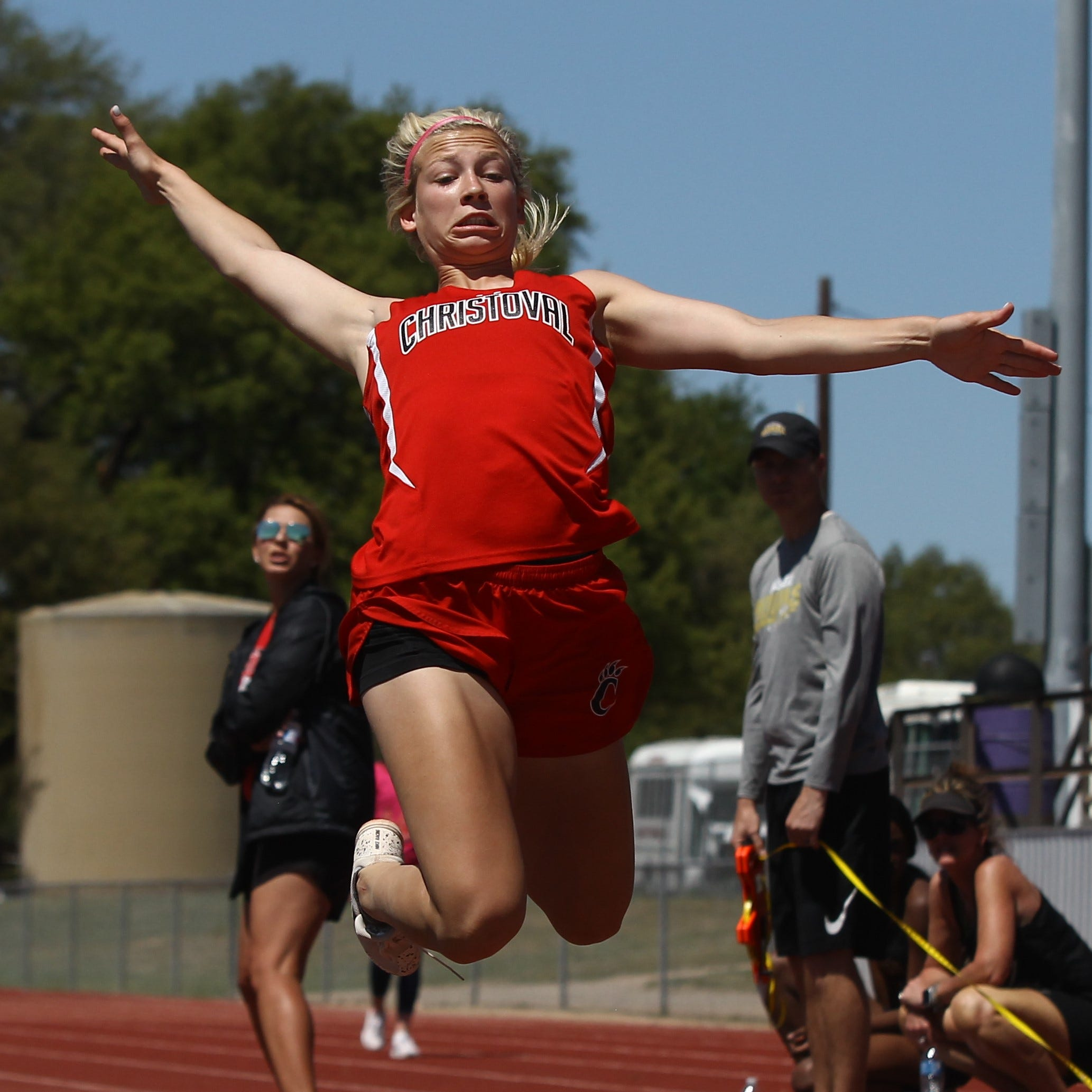 AREA TRACK: Christoval sophomore Vaughn a five-event regional qualifier