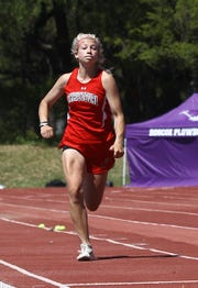 Christoval's Allison Vaughn approaches the takeoff point in the girls triple jump at the District 7&8-2A Area Track and Field Meet Wednesday, April 10, 2019, at Mertzon Irion County.