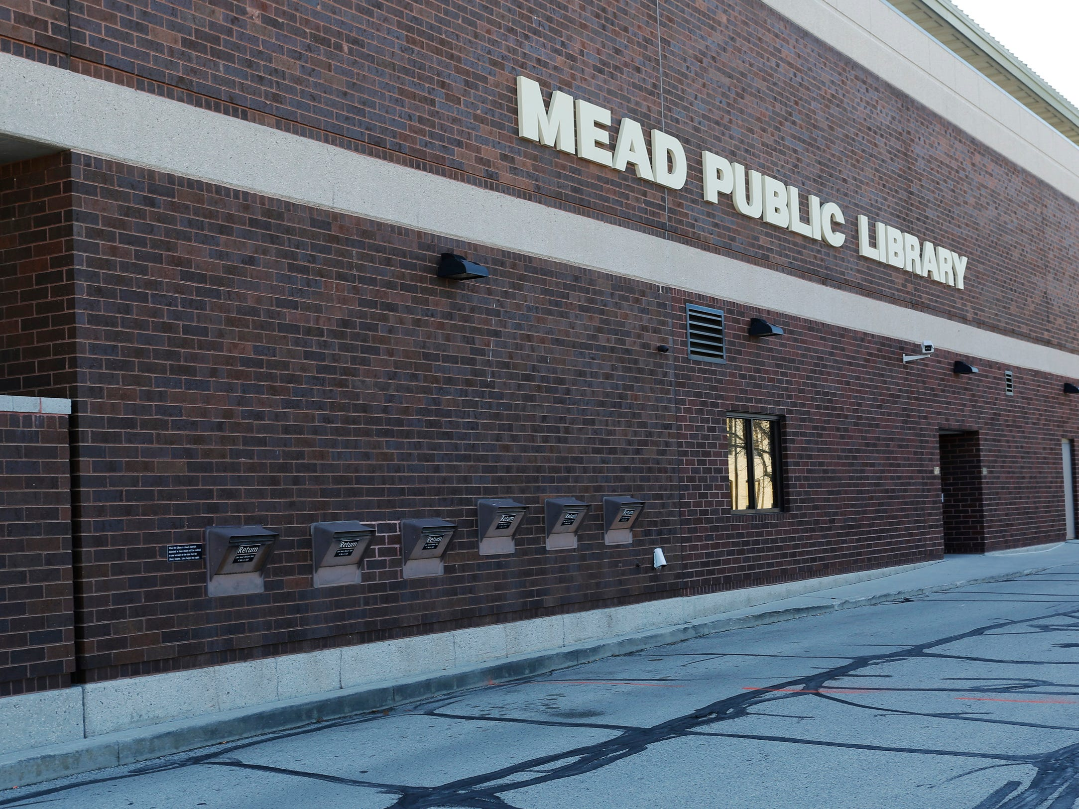 A view of the book drop off area at Mead Public Library, Tuesday, April 9, 2019, in Sheboygan, Wis.