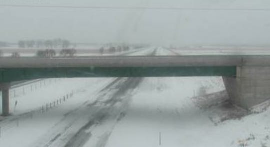 The overpass at Brookings over Interstate 29 on April 10, 2019.