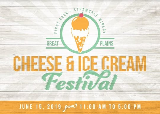 The logo for the Cheese & Ice Cream Festival