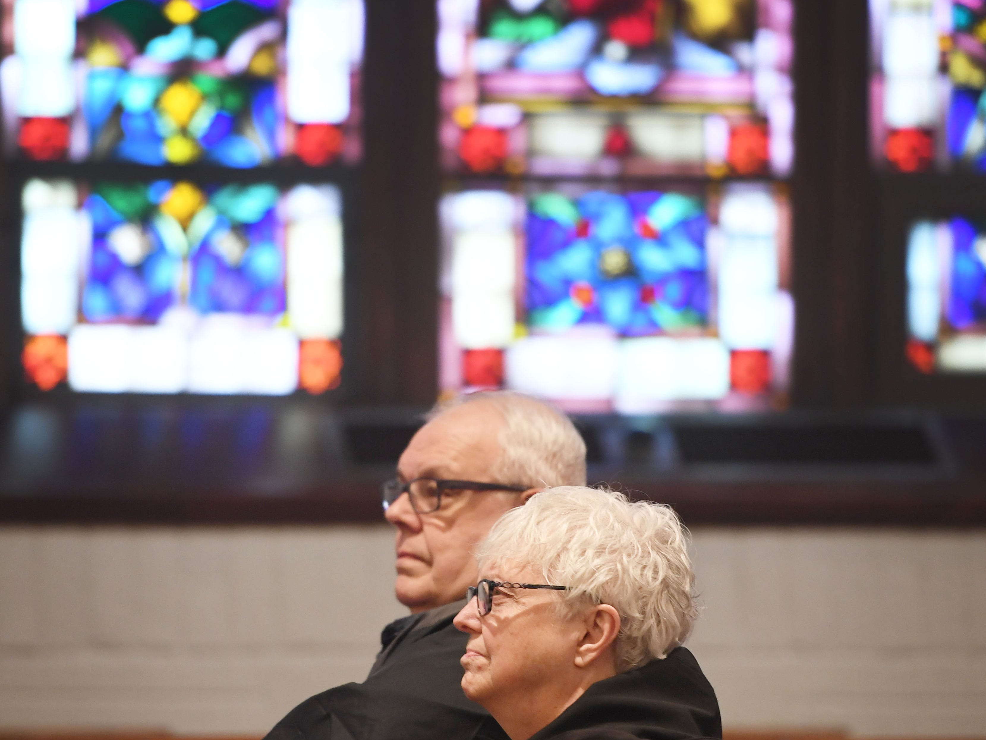 East Side Lutheran Church Wednesday, April 10, during noon service in Sioux Falls. The church turned 100 years old this year.