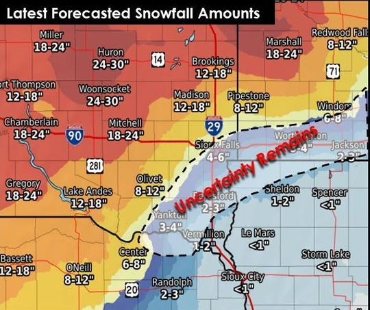 Sioux Falls weather: 'Uncertainty remains' for winter storm