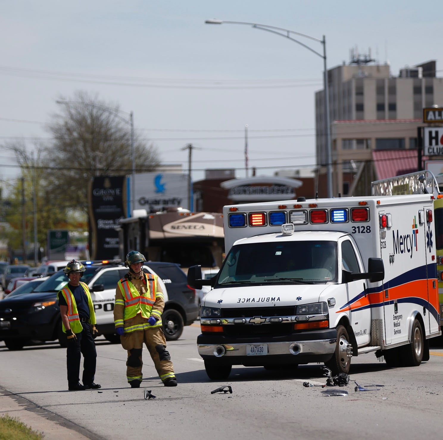 One injured in afternoon motorcycle crash