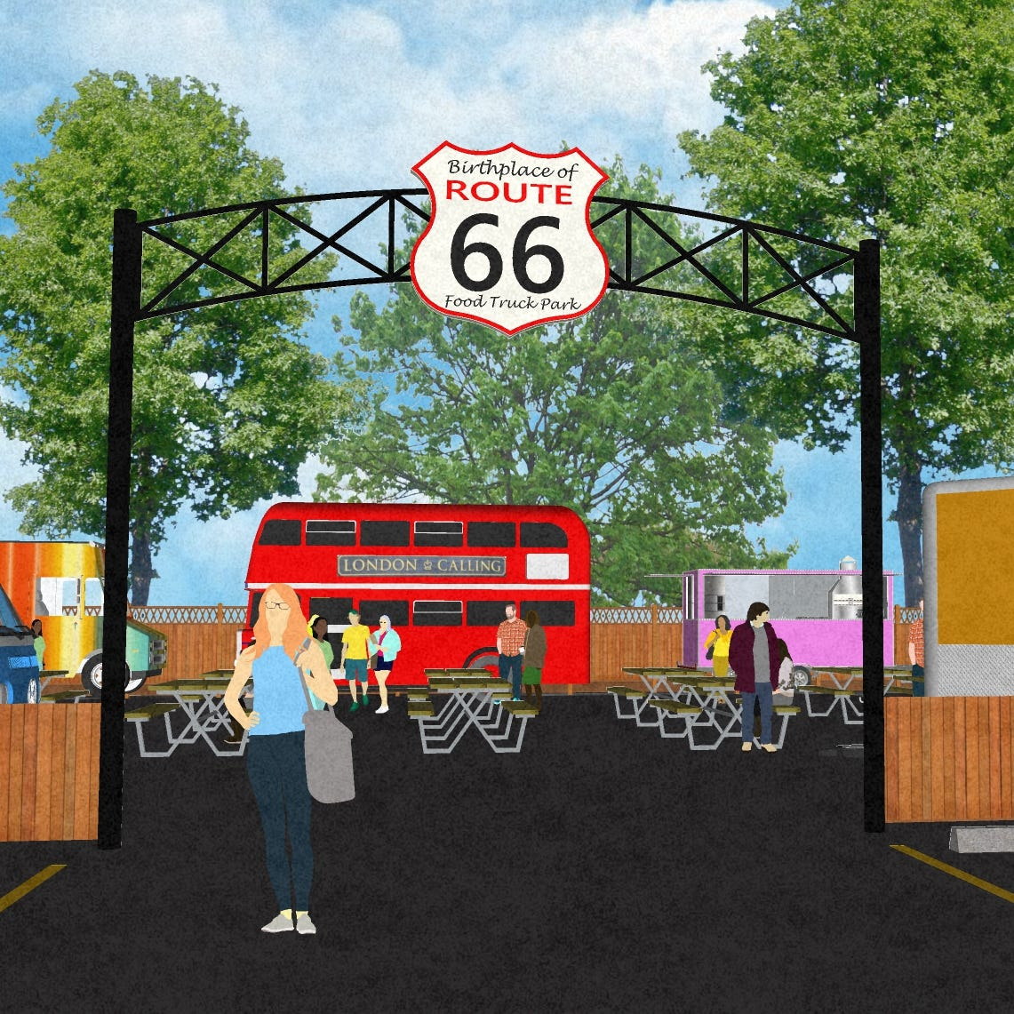 Food truck park, bar to pay tribute to Route 66
