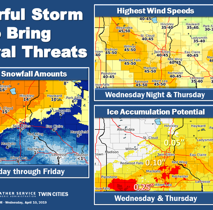 Blizzard warning says 12-18 inches of snow for Stearns County