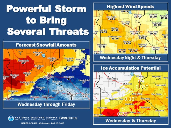Stearns County is in a blizzard warning in advance of a powerful storm that will bring heavy precipitation to the region  tonight through early Friday.