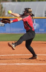 Hurricane's Chantell Pearson leads Region 9 with over 100 strikeouts, and uses three old-school pitches.