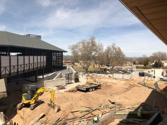 Construction is underway at the Beverley Taylor Sorenson Center for the Arts in Cedar City. The new plaza is set to enhance the guest experience at the Utah Shakespeare Festival.
