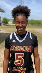 Florida High freshman guard Tonie Morgan was named to the 2019 All-Big Bend girls basketball first team.