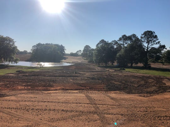 The shaping stage to the new 17th hole at the Don Veller Seminole Golf Course.