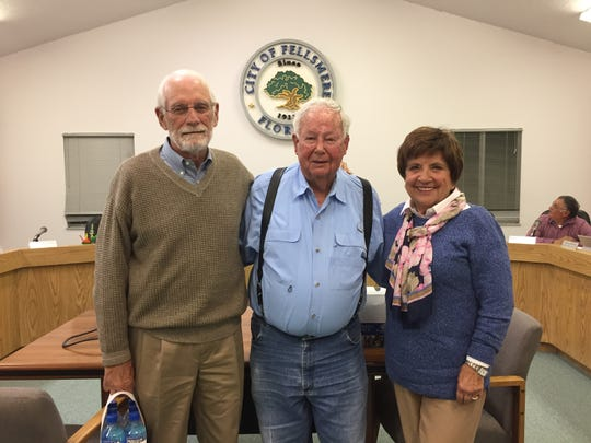 Fellsmere Mayor Joel Tyson, center, with Larry and Karen Mulder, whose financial contribution helped kick-start plans to build a new Indian River County Boys & Girls Club in Fellsmere.