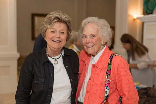 """Ellie McCabe, left, and Alma Lee Loy. The Agnes Wahlstrom Youth Playhouse at Riverside Children's Theatre opened in 1991 thanks to the generosity of Agnes Wahlstrom, the mother of Vero Beach philanthropist and civic leader Eleonora """"Ellie""""McCabe."""