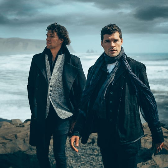 The Australian pop duo King & Country will perform Tuesday at the Abraham Chavez Theatre.