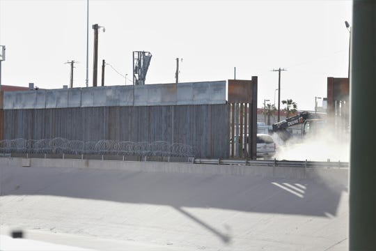 U.S. Troops last week began laying out the razor wire under the Paso Del Norte International Bridge as part of an effort to increase security around the ports of entry.