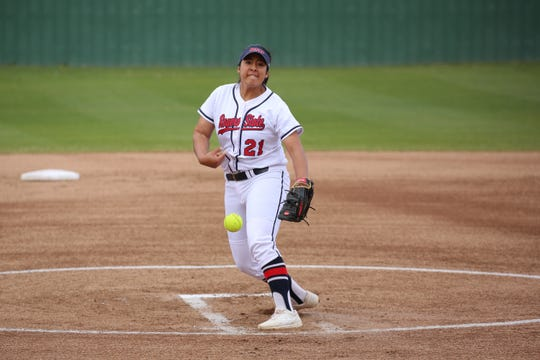 Former Parkland High softball standout Andrea Morales plays for Rogers State University in Oklahoma.