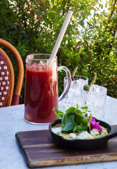 A pitcher of Bloody Marys and a spring frittata are among the Easter-weekend brunch options at Les Marchands Restaurant & Wine Shop in Santa Barbara's Funk Zone.